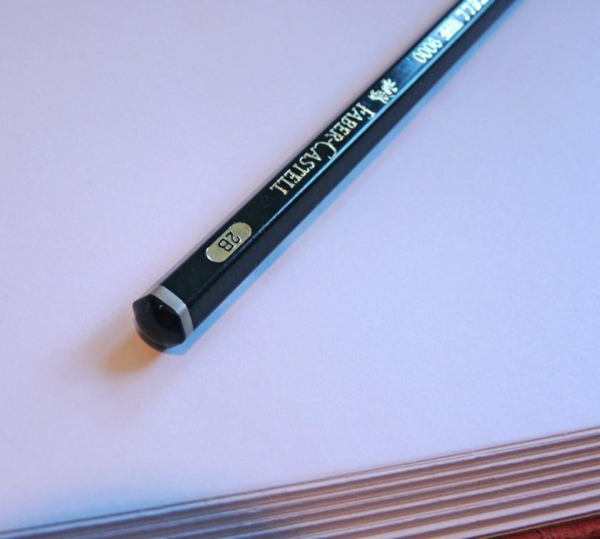 Faber-Castell 9000 pencil blunt end