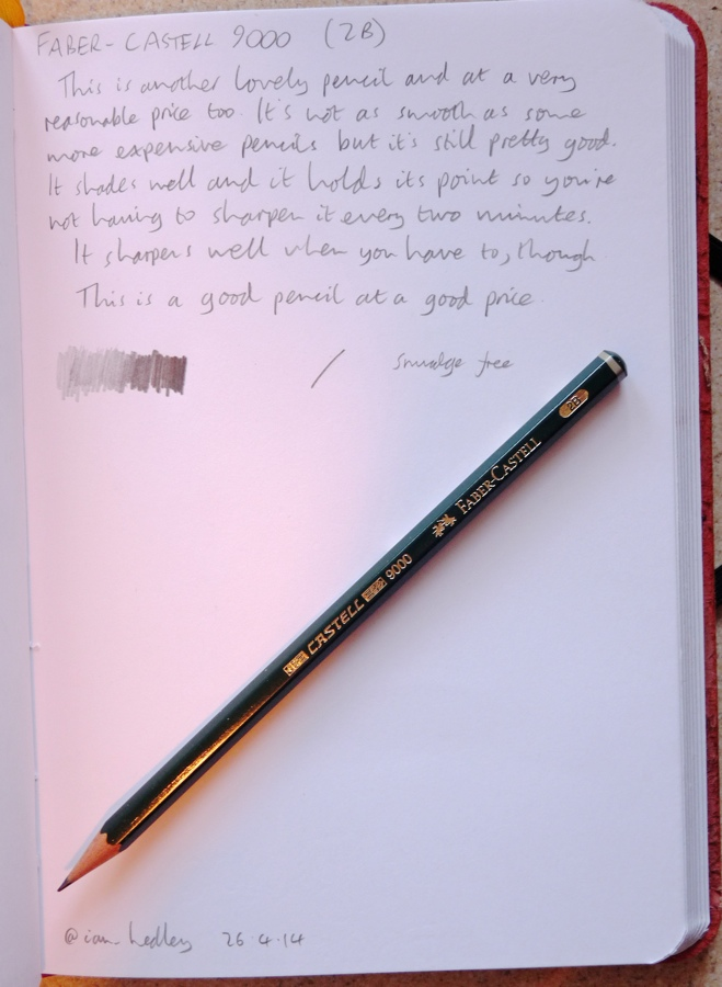 Faber-Castell 9000 pencil handwritten review