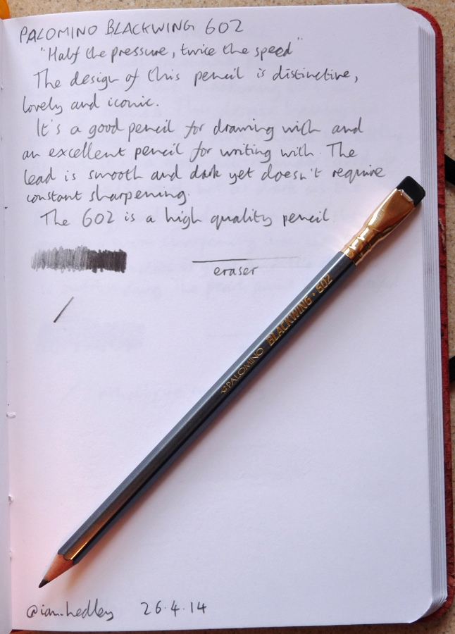 Palomino Blackwing 602 pencil handwritten review