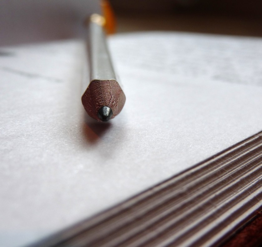 Palomino Blackwing Pearl pencil pointy end