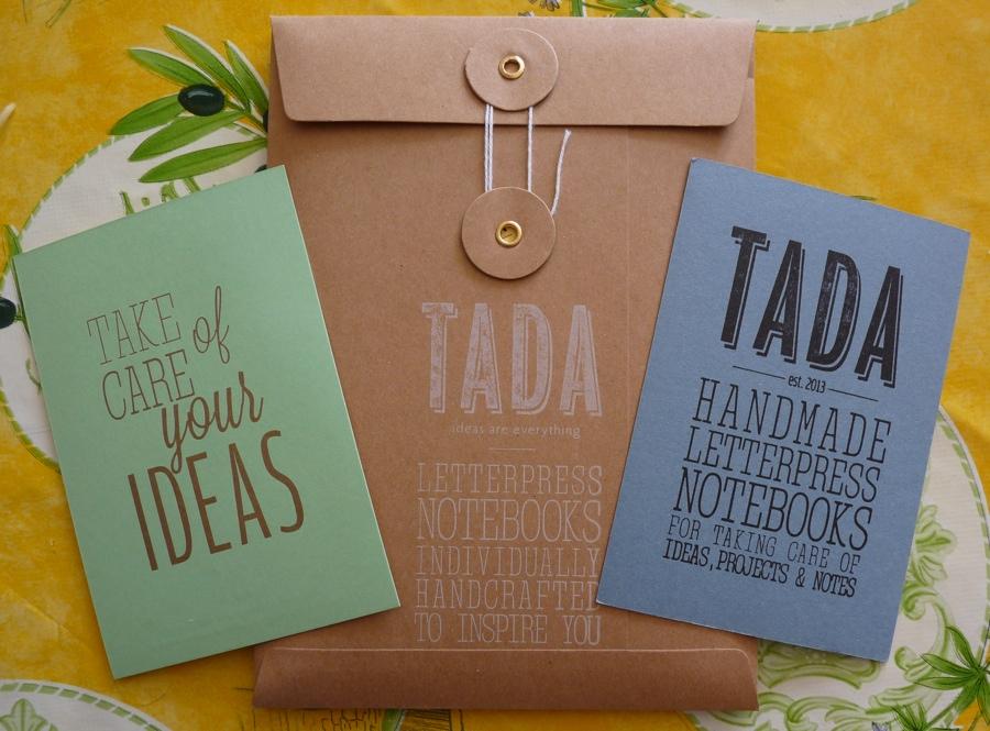 Tada A5 notebook packaging