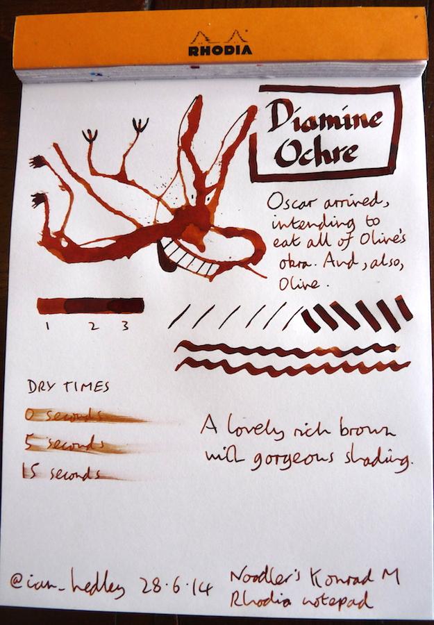 Diamine Ochre ink Inkling doodle