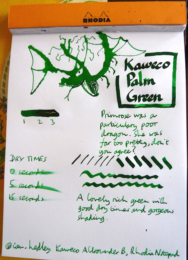 Kaweco Palm Green Inkling doodle