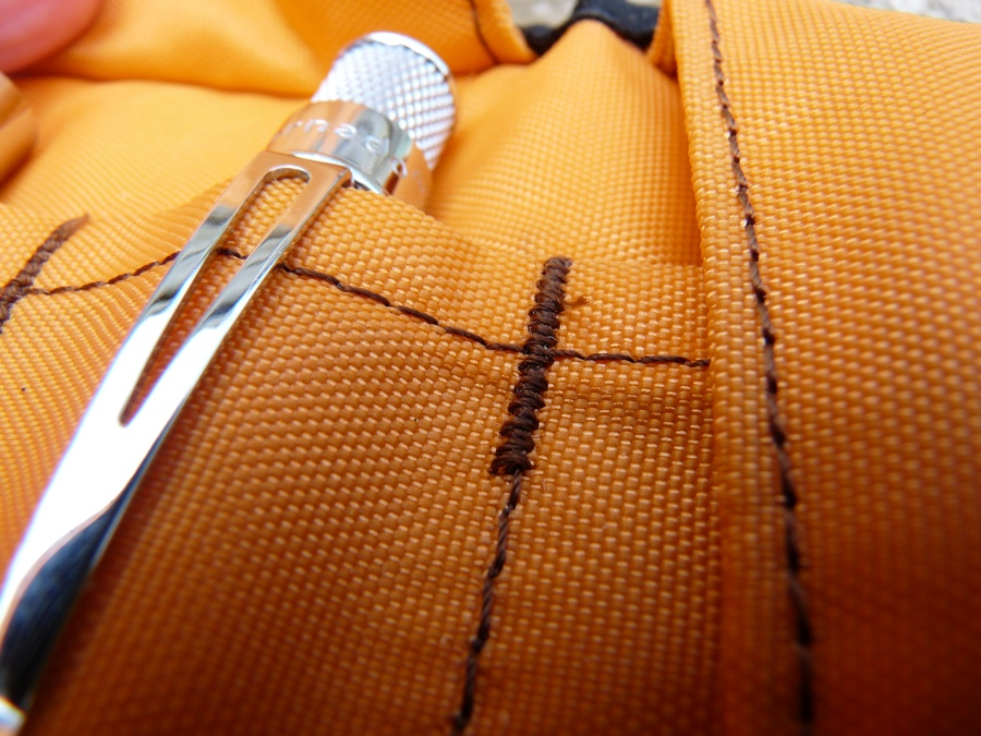 Nock Co Sassafras pen case stitching
