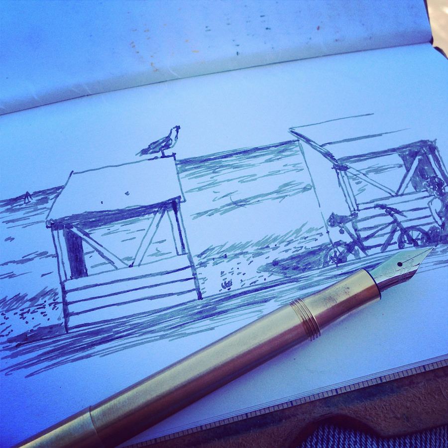 Sketching by the sea