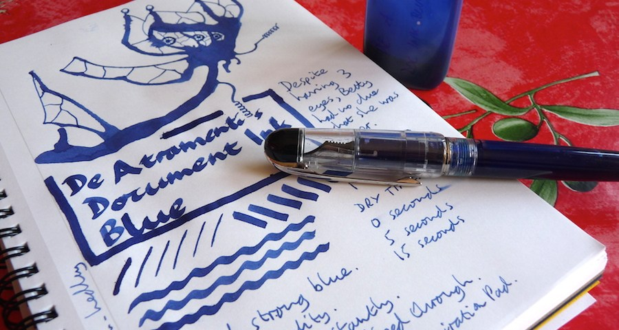 De Atramentis Document Ink Blue ink review