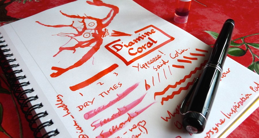 Diamine Coral ink review