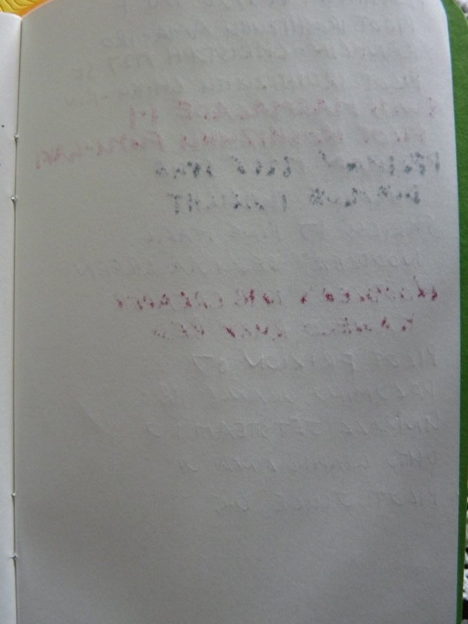 Analog LatLon notebook ink tests back