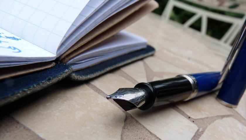 Waterman Hemisphere with notebook