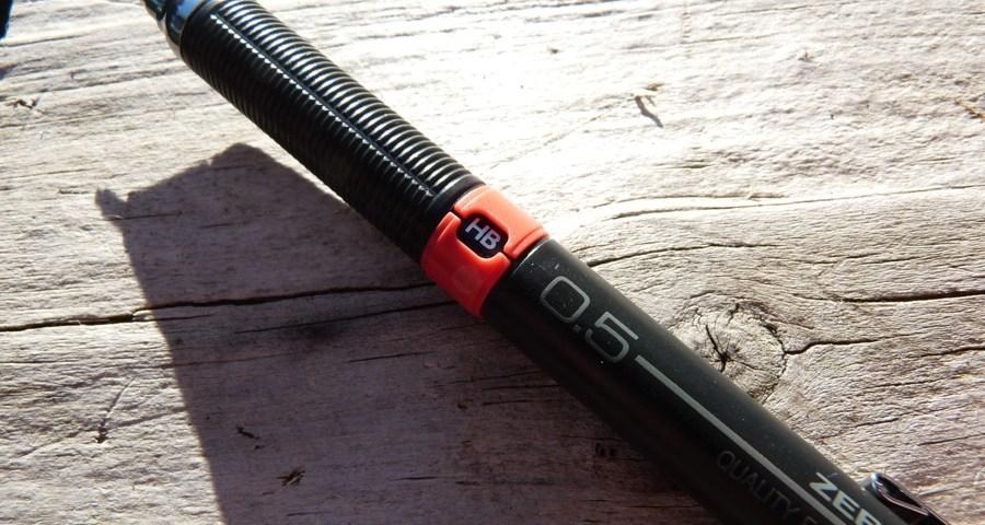Zebra Drafix mechanical pencil grade indicator
