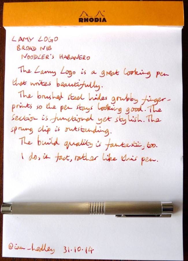 Lamy Logo handwritten review
