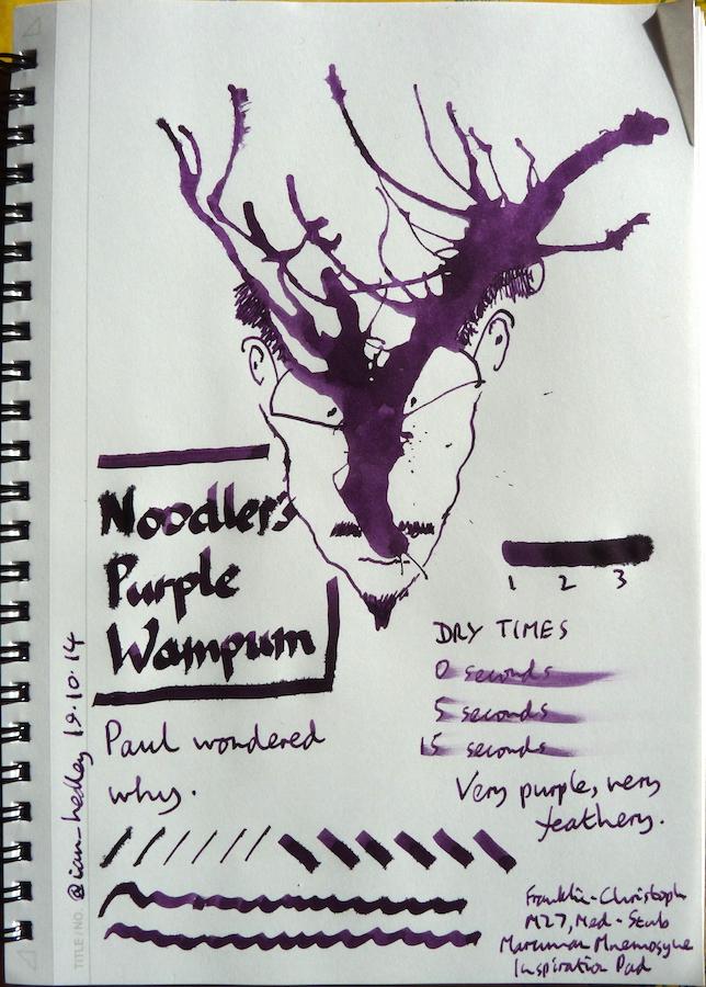 Noodler's Purple Wampum Inkling