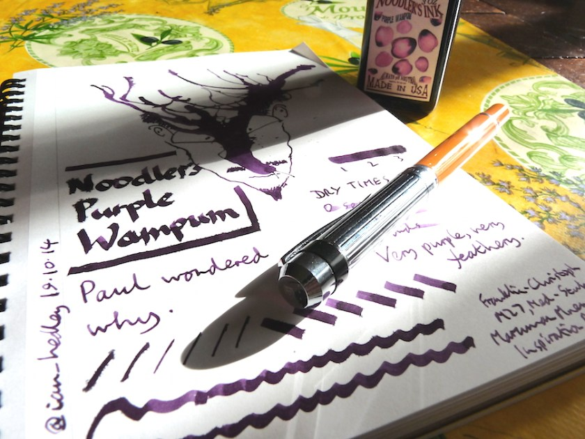 Noodler's Purple Wampum ink review