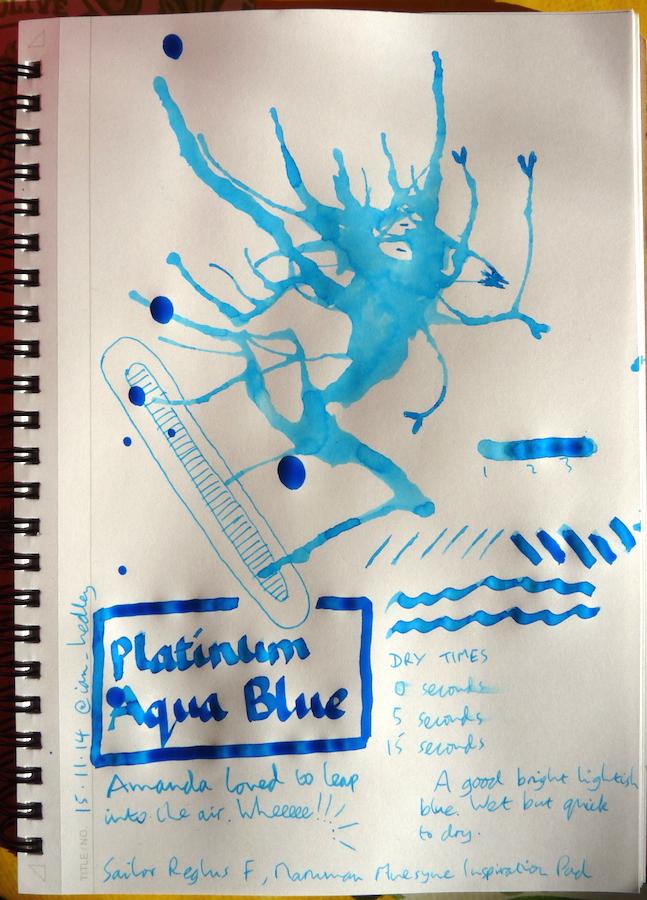 Platinum Mix-Free Aqua Blue Inkling doodle
