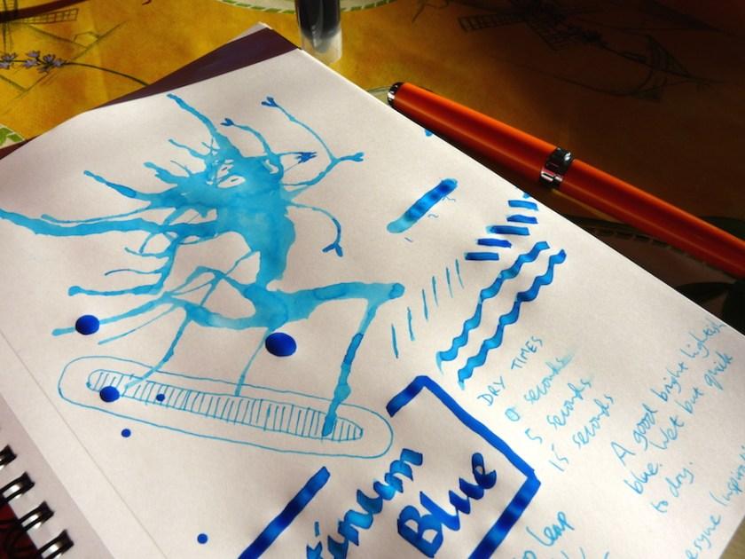 Platinum Mix-Free Aqua Blue ink review