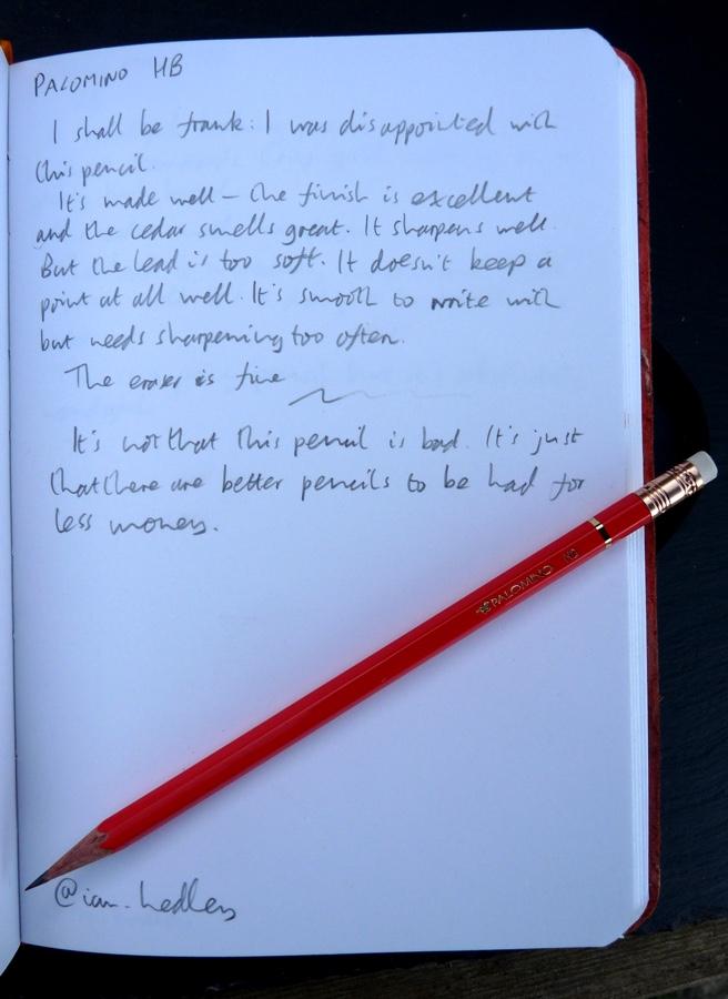 Palomino HB pencil handwritten review
