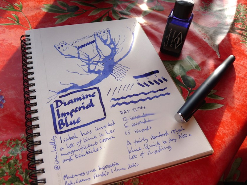 Diamine Imperial Blue ink review
