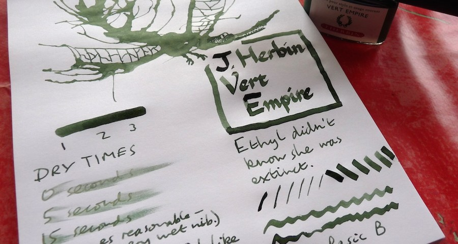 J Herbin Vert Empire ink review