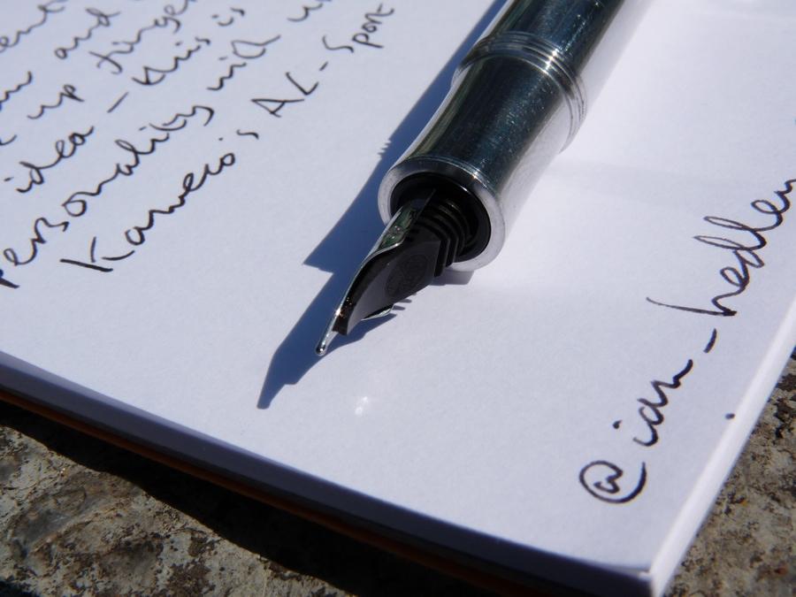 Kaweco AL-Sport fountain pen deconstructed