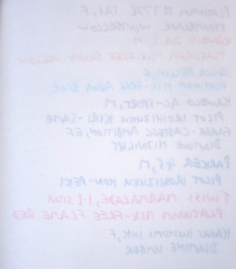 Midori Travelers Notebook Refill 013 lightweight ink test back