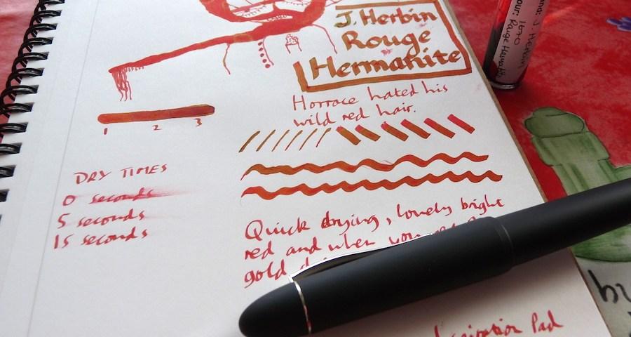 J Herbin Rouge Hematite ink review