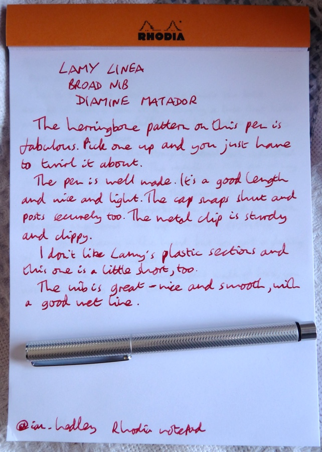 Lamy Linea handwritten review