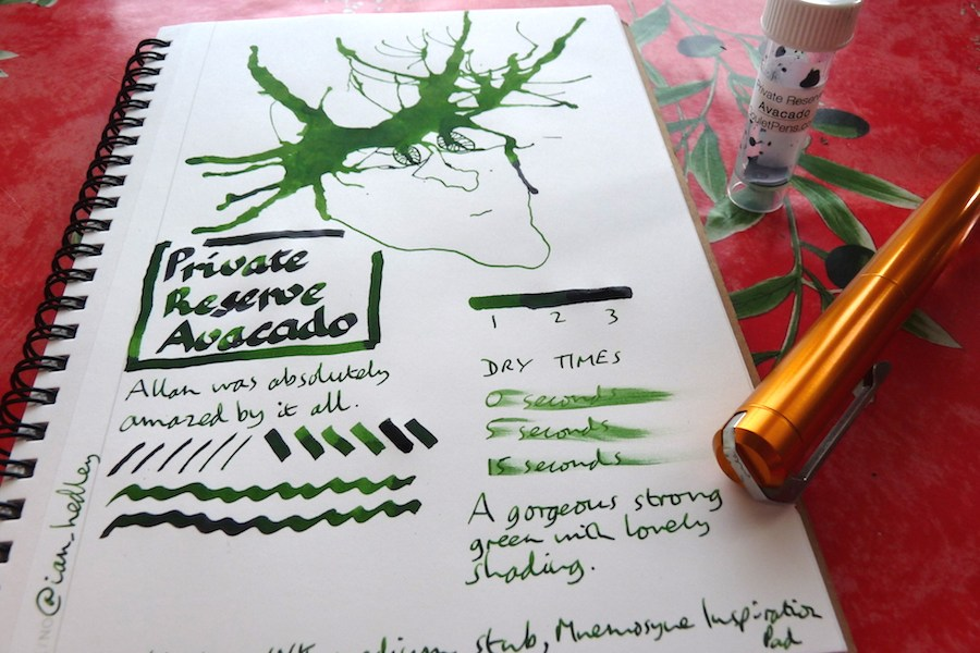 Private Reserve Avacado ink review