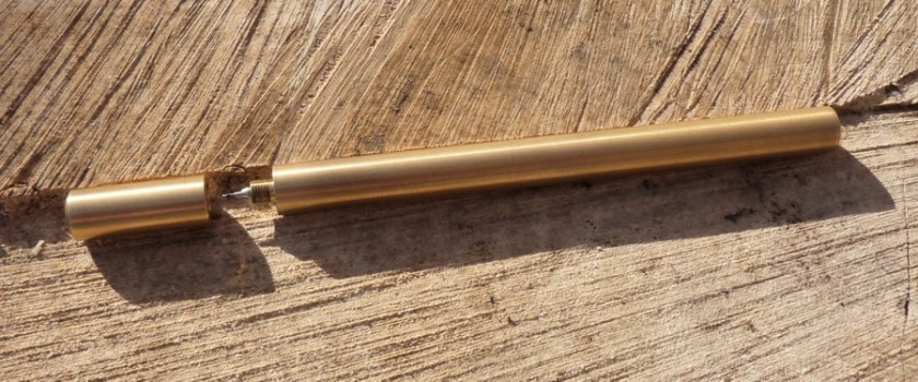 Ateleia Brass Pen uncapped 2