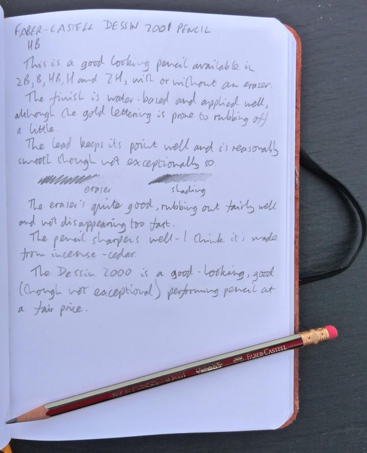 Faber-Castell Dessin 2001 handwritten review