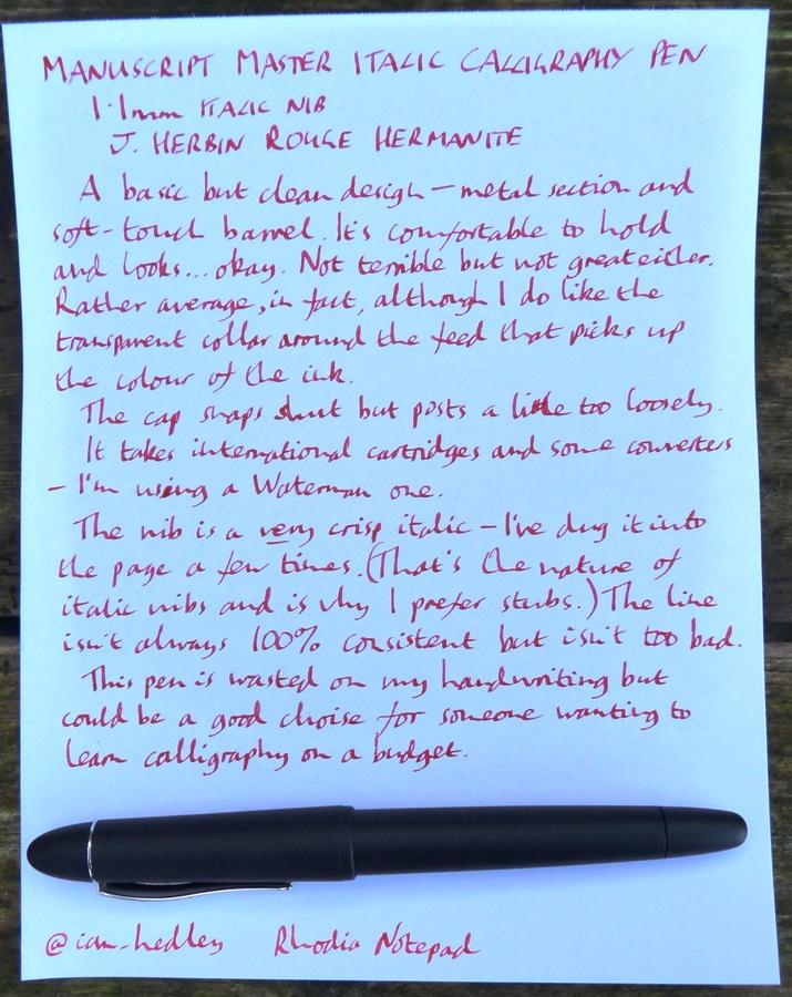 Manuscript Master Italic handwritten review