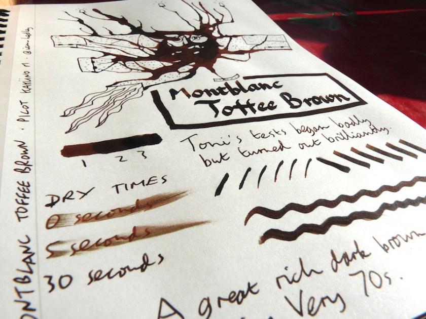 Montblanc Toffee Brown ink revew