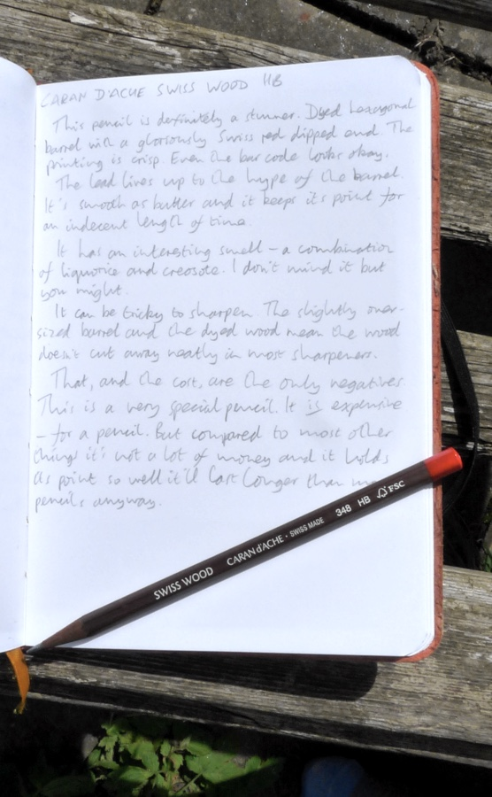 Caran dAche Swiss Wood handwritten review