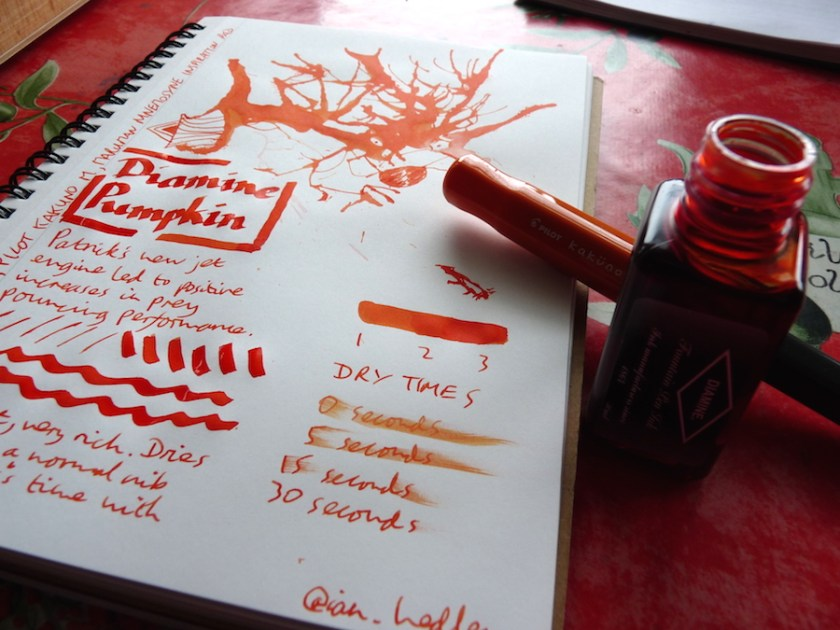 Diamine Pumpkin ink review