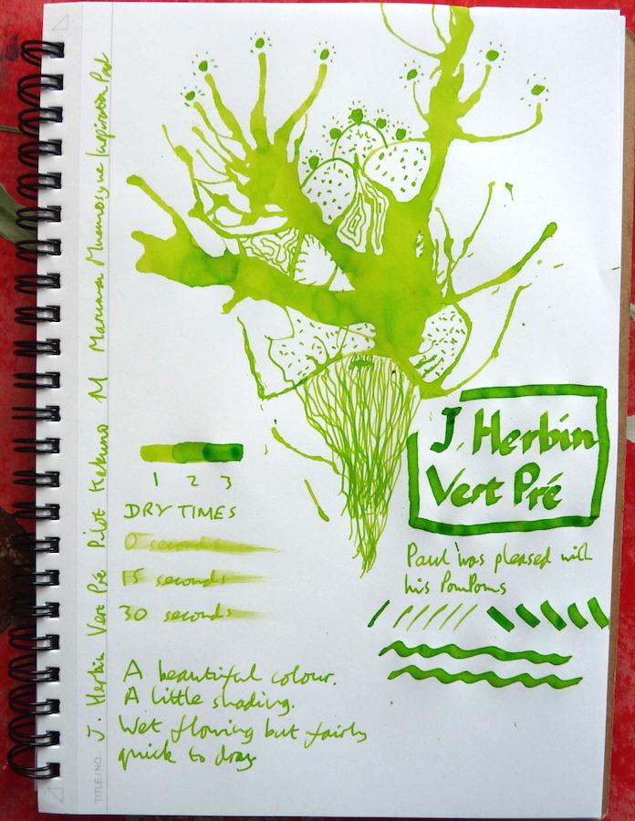 J Herbin Vert Pre Inkling doodle