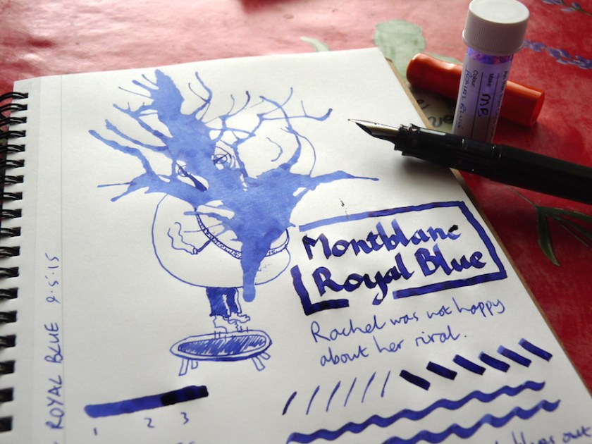 Montblanc Royal Blue ink review