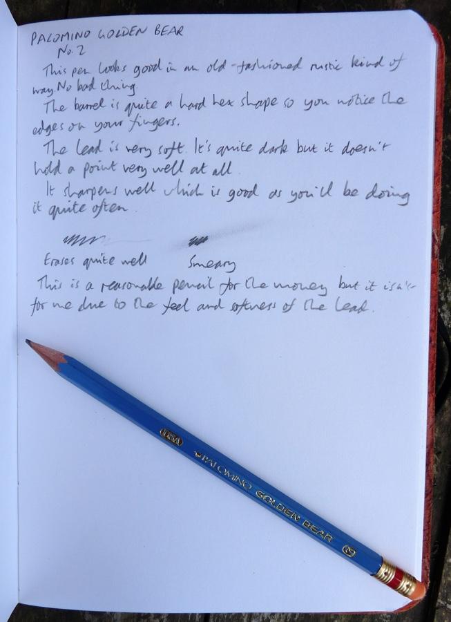 Palomino Golder Bear handwritten review