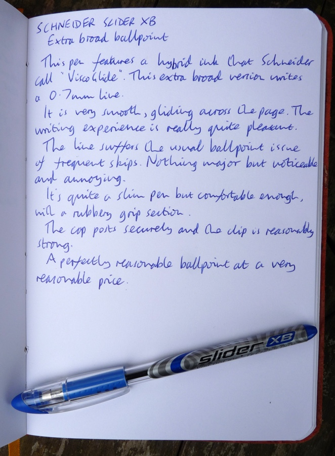 Schneider Slider XB handwritten review