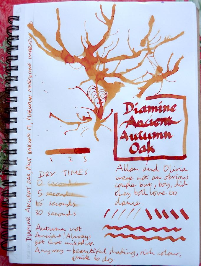 Diamine Autumn Oak Inkling