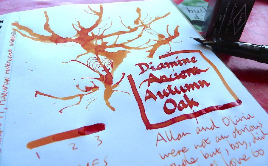 Diamine Autumn Oak ink review
