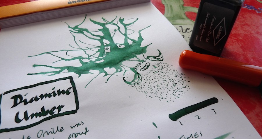 Diamine Umber ink review