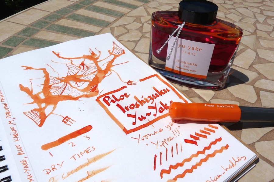 Pilot Iroshizuku Yu-Yake ink review