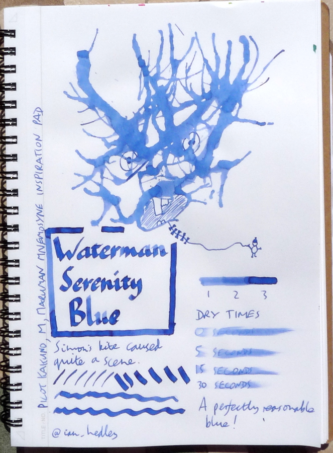 Waterman Serenity Blue Inkling