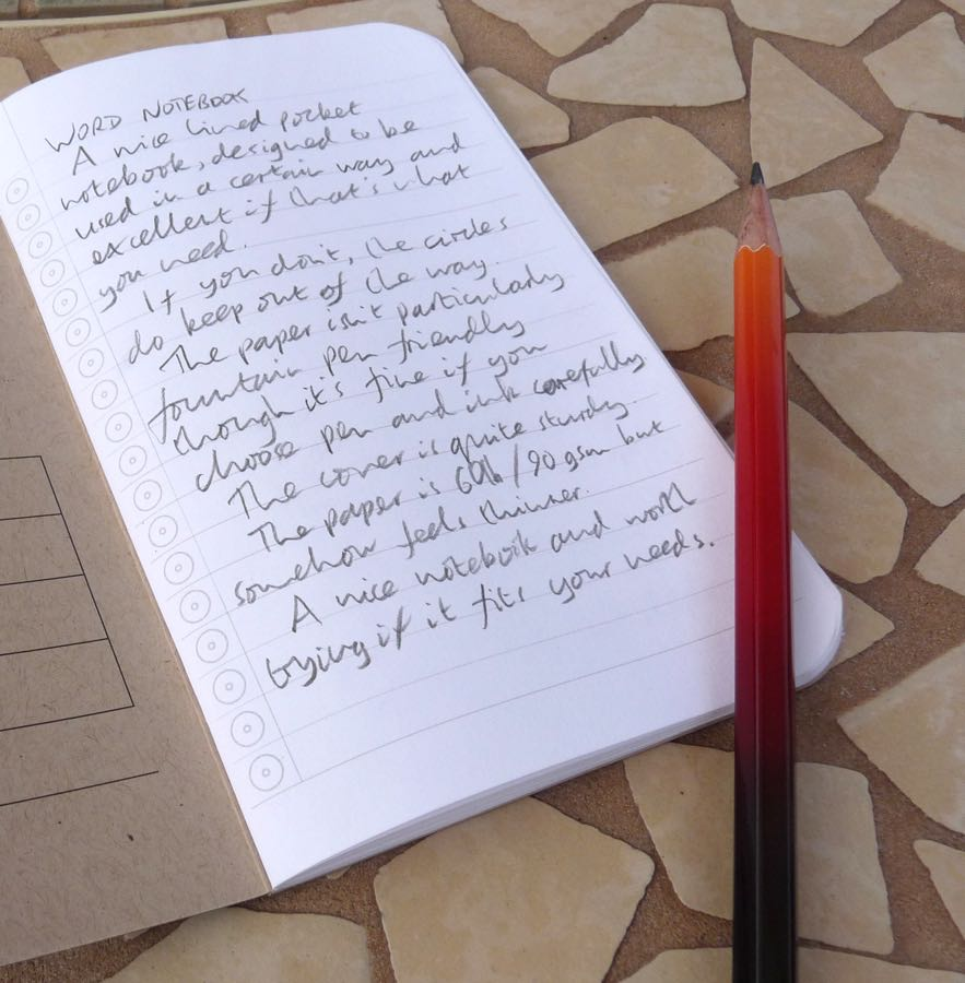 word notebooks review pens paper pencils the word notebook is a good little pocket book reasonable paper and an interesting and potentially useful system for making lists