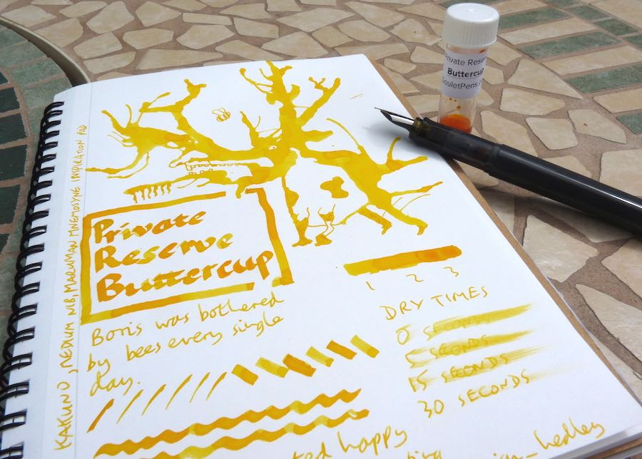 Private Reserve Buttercup ink review