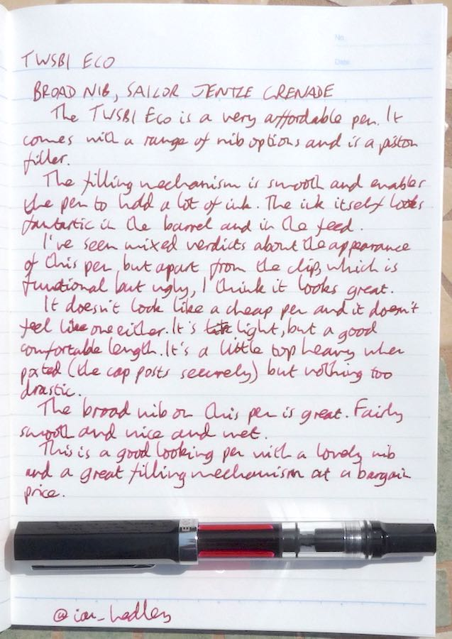 TWSBI Eco handwritten review