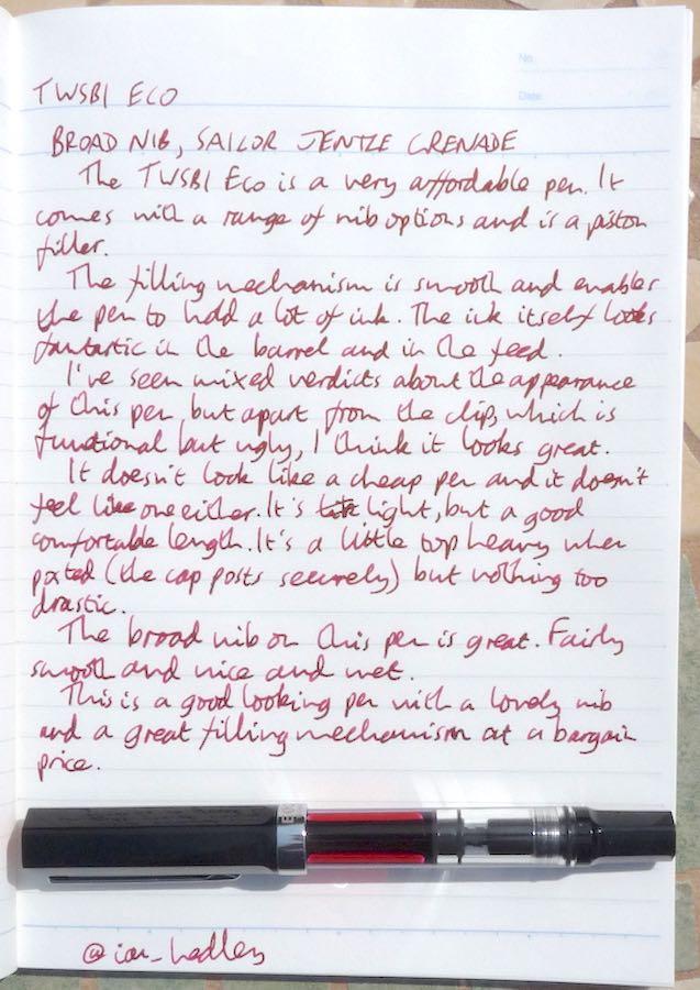 TWSBI Eco handwritten review