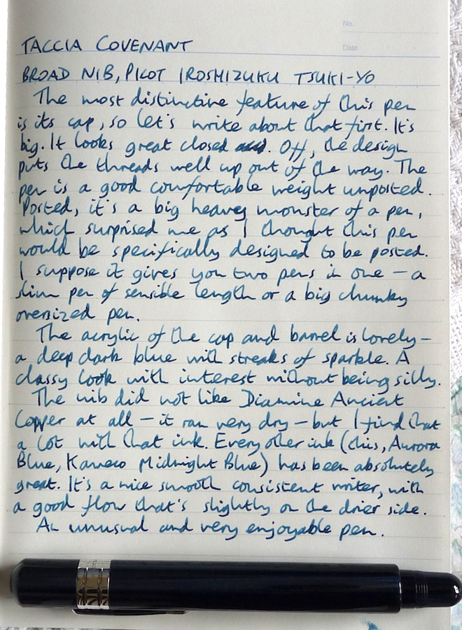 Taccia Covenant handwritten review
