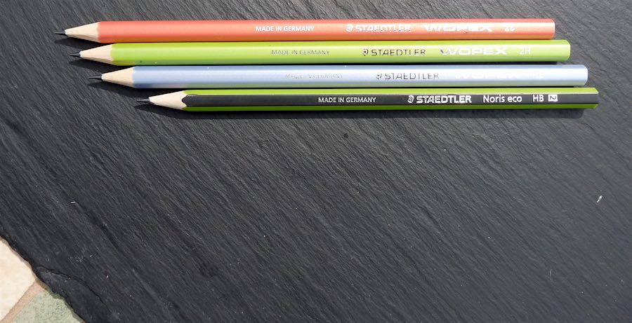 Staedtler Wopex lined up side by side