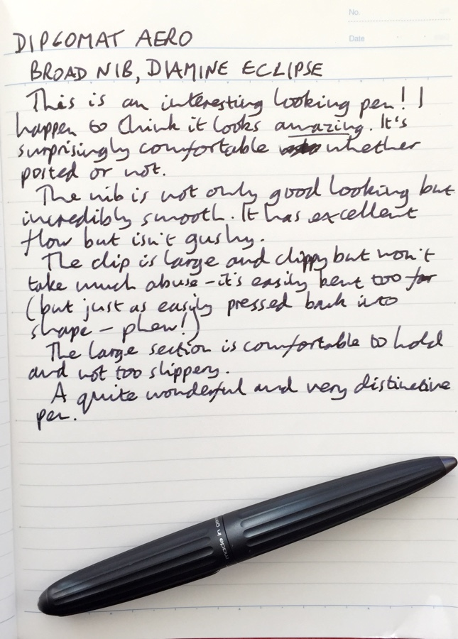 Diplomat Aero handwritten review