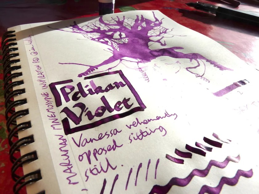 Pelikan 4001 Violet ink review